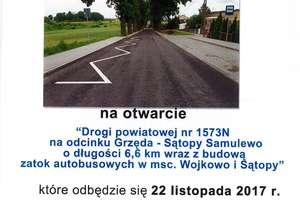 Symboliczne otwarcie drogi powiatowej Grzęda - Sątopy-Samulewo