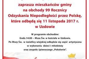 Gmina Działdowo: 99. rocznica odzyskania Niepodległości przez Polskę