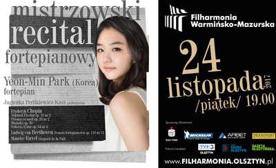 Kolejny mistrzowski recital w Filharmonii Warmińsko-Mazurskiej! Przy fortepianie Yeon-Min Park