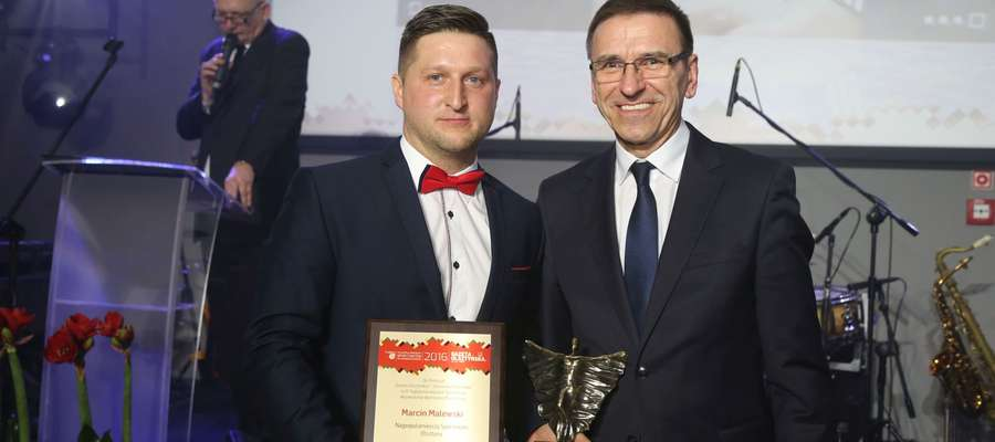 Najpopularniejszym Sportowcem Olsztyna w ubiegłym roku został Marcin Malewski, piłkarz ręczny Warmii Traveland Olsztyn