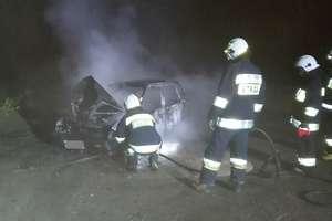 Pożar daewoo tico w Piotrowcu