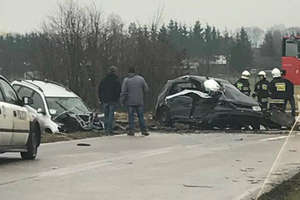 Dwie osoby ranne w zderzeniu aut między Dąbrównem a Działdowem