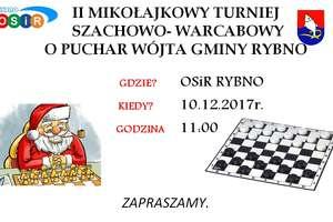 Zapraszamy do Rybna na II Mikołajkowy Turniej Szachowo-Warcabowy!