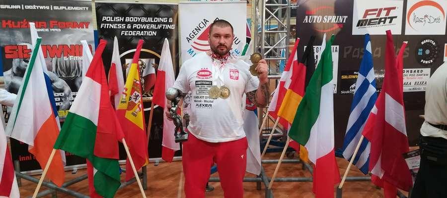 Marek Makarewicz podczas mistrzostw świata WPA w Siedlcach