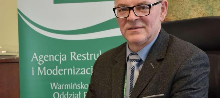 Leszek Potorski, dyrektor Warmińsko-Mazurskiego Oddziału Regionalnego Agencji Restrukturyzacji i Modernizacji Rolnictwa w Olsztynie