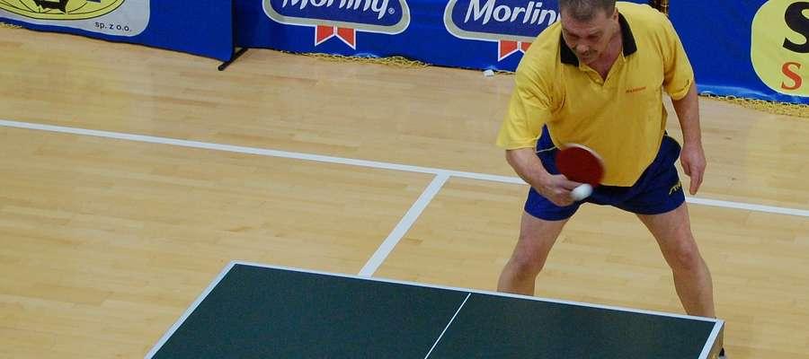 Kazimierz Sochacki przez kilkadziesiąt lat reprezentował Ostródę na arenach pingpongowych
