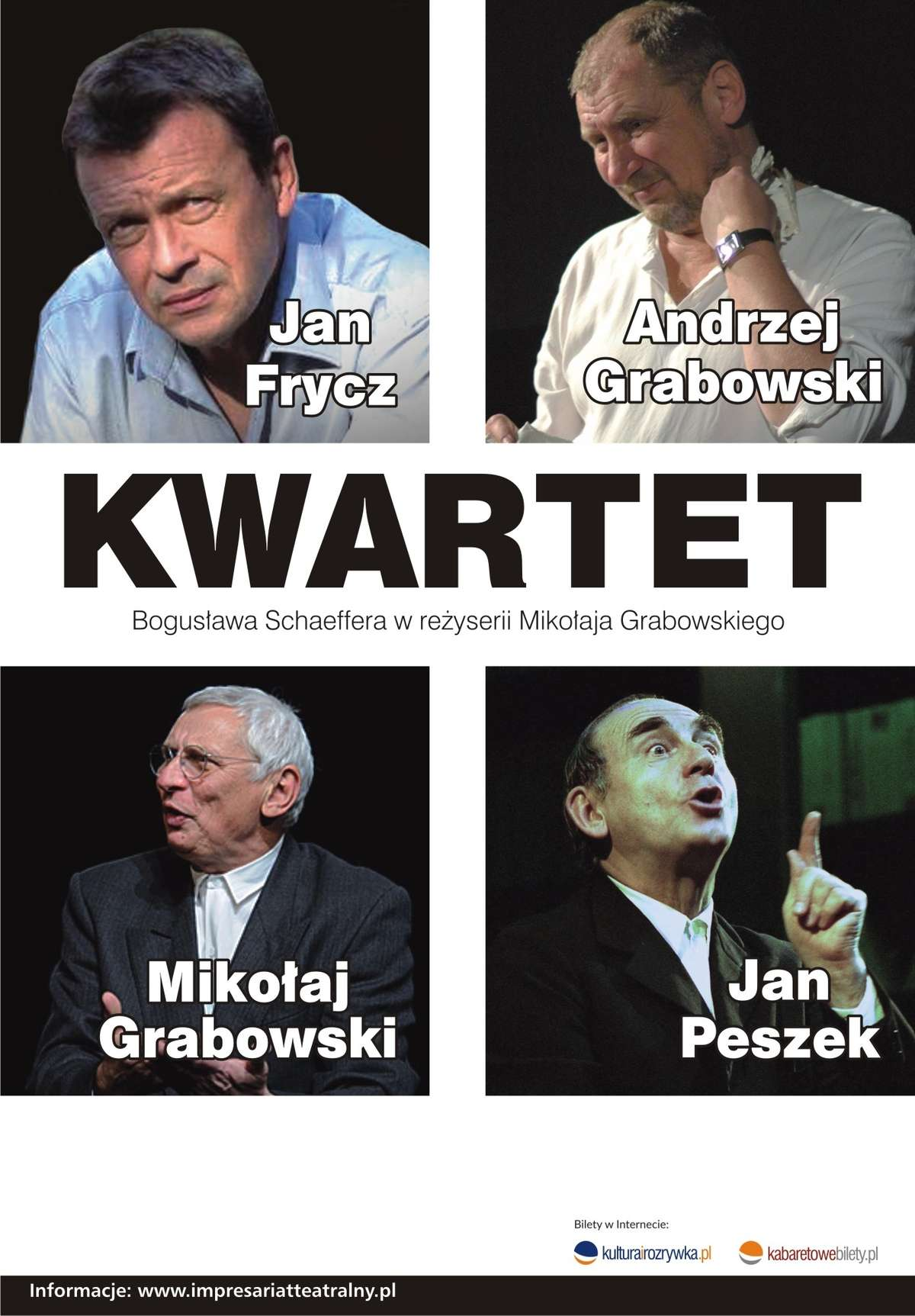 plakat kwartetu aktorów - full image