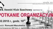 Spotkanie organizacyjne klubu szachistów