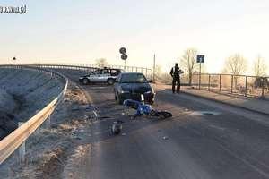 Zderzenie seata z motorowerem