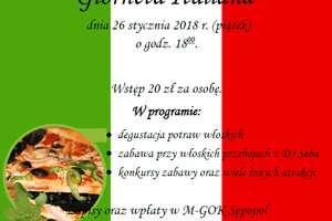 Wieczór włoski w Sępopolu!