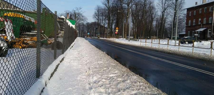 Chodnik przy ul. Dworcowej