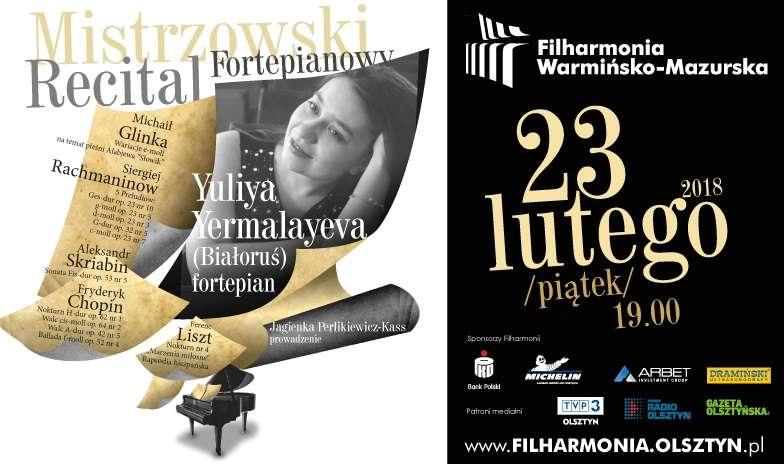 Mistrzowski popis w filharmonii olsztyńskiej - za fortepianem zasiądzie Yuliya Yermalayeva - full image
