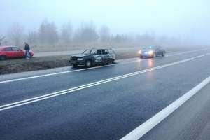 Pożar samochodu osobowego na DK 16 pod Olsztynem