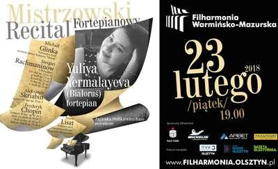Mistrzowski popis w filharmonii olsztyńskiej - za fortepianem zasiądzie Yuliya Yermalayeva