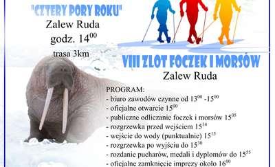 Zlot Foczek i Morsów oraz Zimowy Marsz Nordic Walking