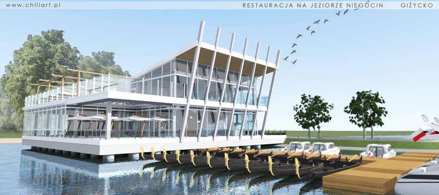 Zdjęcie przedstawia wizję architektoniczna rest. opracowaną przez ChiliArt