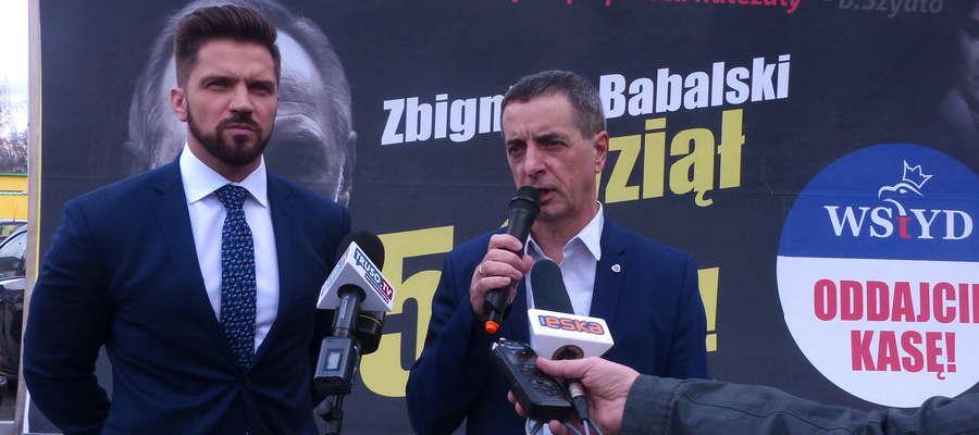 Poseł Piotr Cieśliński i senator Jerzy Wcisła