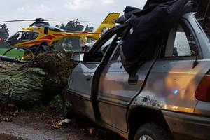 Rośnie liczba ofiar długiego weekendu. Nie żyje jeden z pasażerów opla, który przed tygodniem uderzył w drzewo