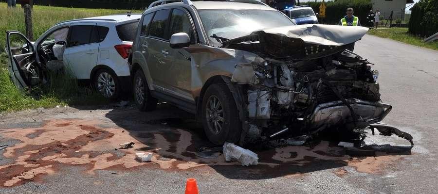 Poszkodowane osoby trafiły do szpitali w Działdowie i Ostródzie