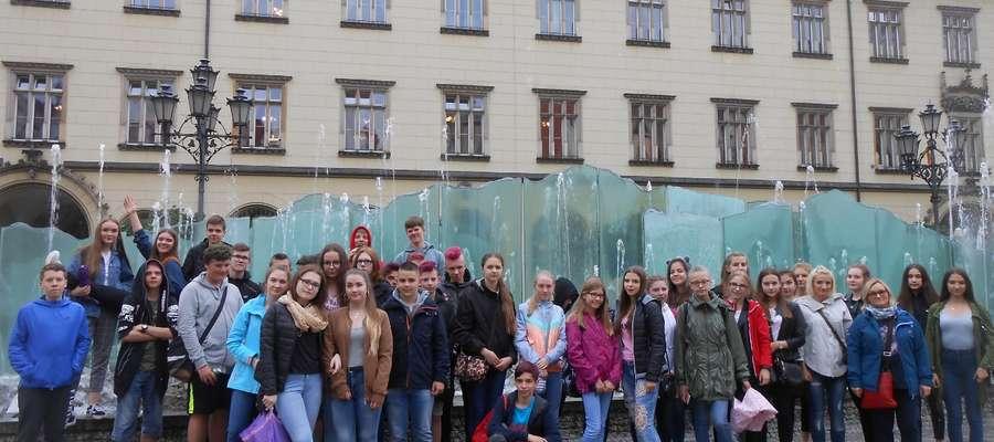 Uczniowie podczas trzydniowej wycieczki