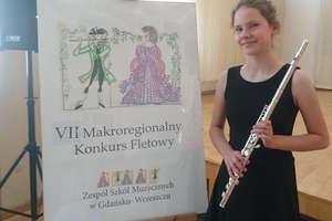 Flecistka Maja Klimaszewska z III Nagrodą w konkursie