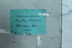 Mapa z 1908 roku znaleziona podczas remontu byłego przedszkola