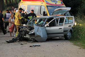 18-letni kierowca ominął sarnę, lecz uderzył w drzewo. W aucie było pięcioro młodych ludzi