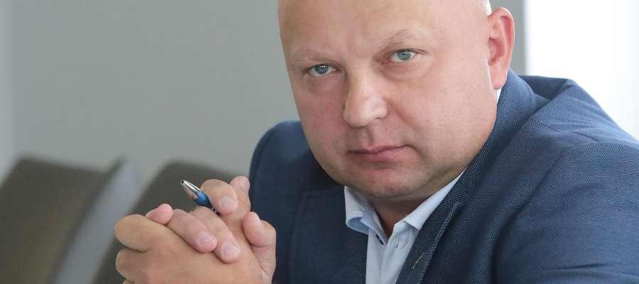 Sławomir Koniuszy, przewodniczący Warmińsko-Mazurskiego Zarządu Wojewódzkiego NSZZ Policjantów