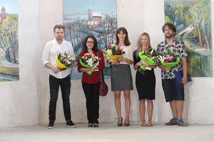 Tomasz Zjawiony z Grand Prix II Ogólnopolskiego Biennale Malarstwa Pejzaż Architektoniczny Bisztynek 2018
