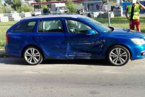 Skrzyżowanie Obwodowej i Suwalskiej: zderzyły się trzy samochody