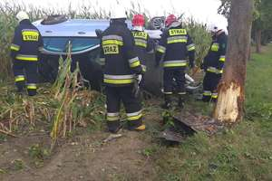 Wypadek w gminie Korsze. Jedna osoba trafiła do szpitala
