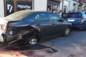 Pijany kierowca uszkodził cztery auta