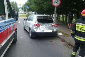 Wypadek na ulicy Jagiełły w Ostródzie. Dwie osoby zostały ranne