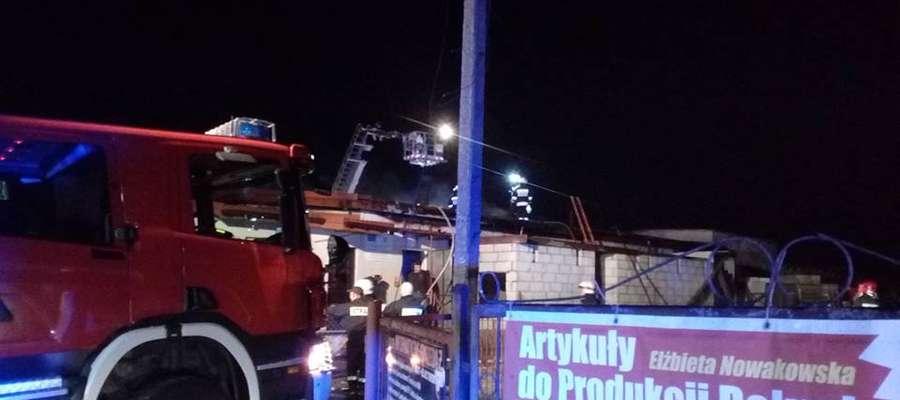 Akcja gaśnicza we wsi Skurpie trwała ponad 3 godziny