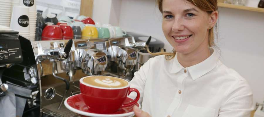 Natalia Piotrowska  Olsztyn-Natalia Piotrowska właścicielka sklepu z kawą i barista