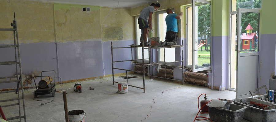 W przedszkolu trwają prace remontowe związane z powstaniem żłobka