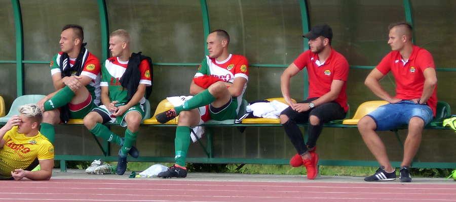 Klasycznego hat-tricka w meczu z Płomieniem ustrzelił Marcin Karczewski (trzeci z prawej)