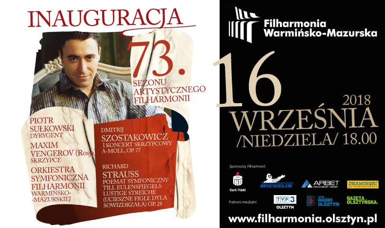 Uroczysta Inauguracja 73. sezonu artystycznego Filharmonii Warmińsko-Mazurskiej  - full image