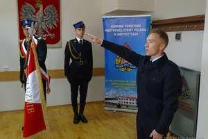 Nowy strażak złożył ślubowanie. Rozpoczął służbę w Bartoszycach