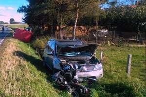 Kolejny śmiertelny wypadek na naszych drogach! Nie żyje motorowerzysta [AKTUALIZACJA]