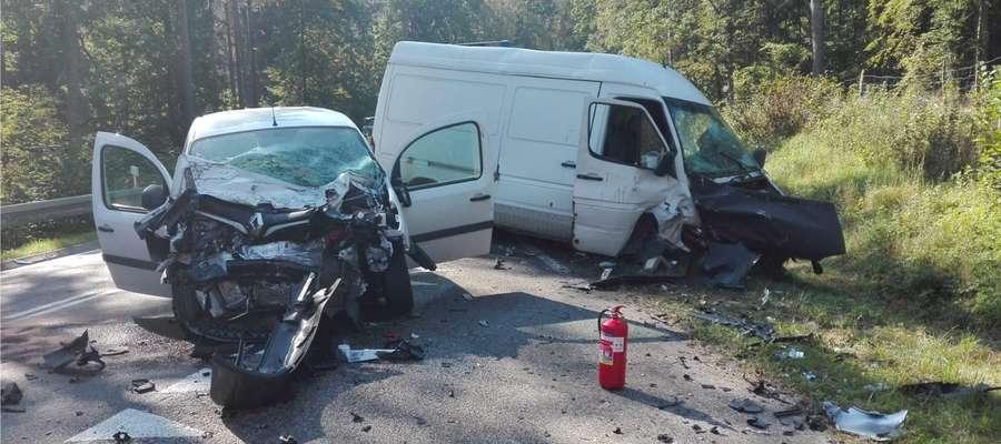 Wypadek na trasie Zgon - Ruciane Nida