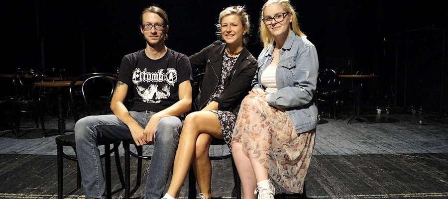 Od lewej: Jarosław Kwaśniak, Kamila Łyłka, Julia Bączkiewicz