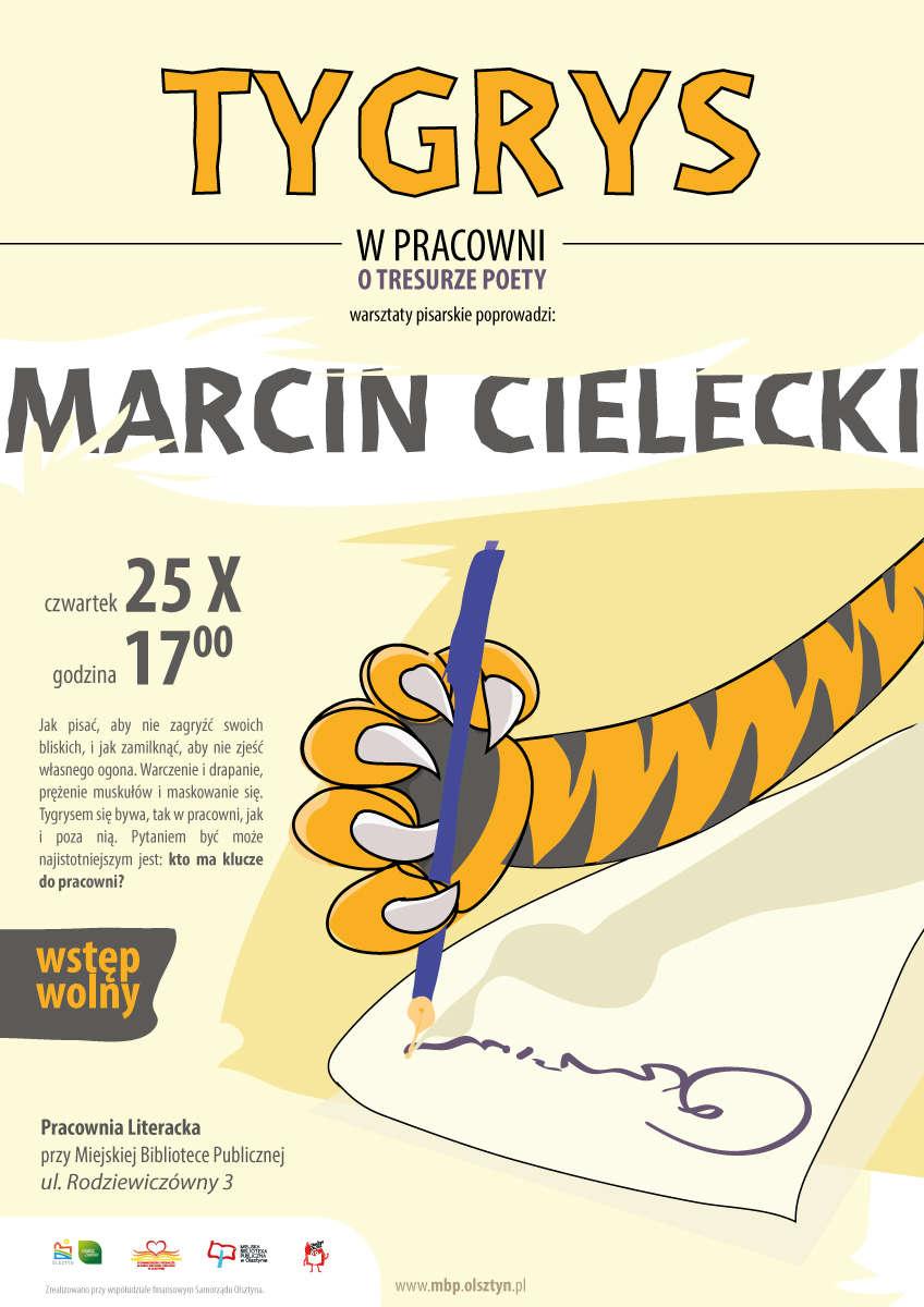 Tygrys w Pracowni. O tresurze poety - warsztaty pisarskie z Marcinem Cieleckim  - full image