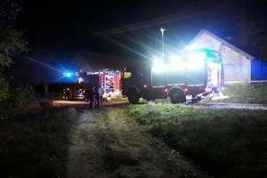 Pożar domu w Strzelnikach