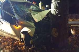 Bus uderzył w drzewo. Jedna osoba trafiła do szpitala