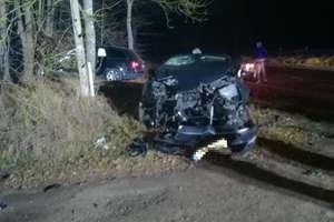 Kobieta w szpitalu po zderzeniu samochodów w pobliżu Legin koło Bartoszyc