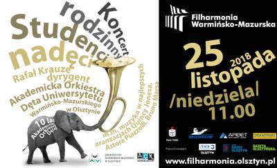 Filharmonia Warmińsko-Mazurska zaprasza na Koncert Rodzinny