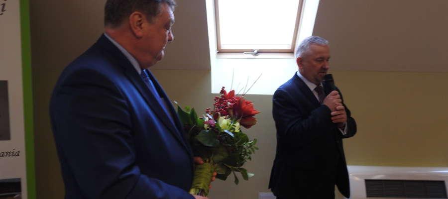 Starosta elbląski Maciej Romanowski z prezydentem Elbląga