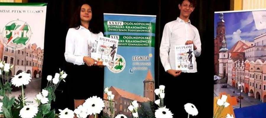 Laura Romero Sochacka i Patryk Lessman z sukcesami reprezentowali województwo warmińsko-mazurskie w konkursach krasomówczych