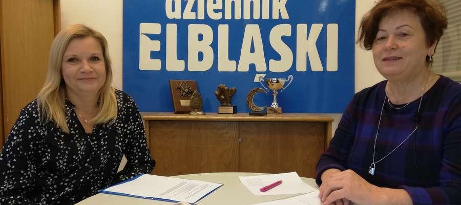 Anna Dawid (Dziennik Elbląski) i Halina Cieśla z podelbląskiego Aniołowa